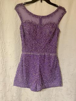 Purple Size 4 Jumpsuit Dress on Queenly