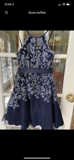 Tweeze me Blue Size 10 Prom Homecoming A-line Dress on Queenly