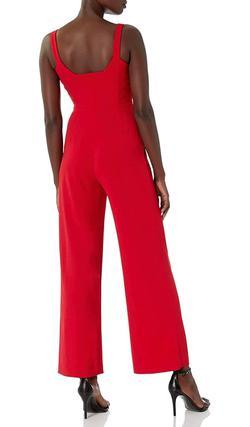 Calvin Klein Red Size 4 Interview Pockets Jumpsuit Dress on Queenly