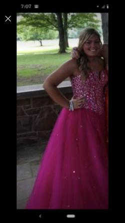 Queenly size 14  Pink Ball gown evening gown/formal dress
