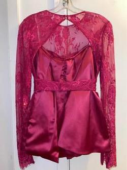 Sherri Hill Pink Size 2 Silk Homecoming Long Sleeve Cocktail Dress on Queenly