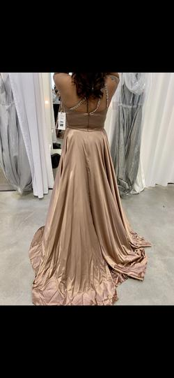 Sherri Hill Nude Size 14 Prom Train A-line Dress on Queenly