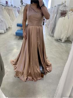 Sherri Hill Nude Size 14 Train A-line Dress on Queenly