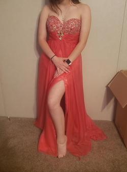 Pink Size 4 Side slit Dress on Queenly