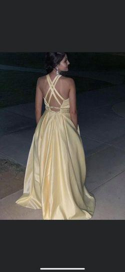 Rachel Allan Yellow Size 0 Ball gown on Queenly