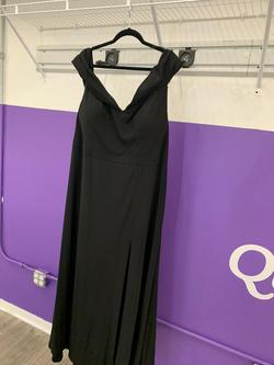 Morgan & Co Black Size 20 Plus Size Side slit Dress on Queenly