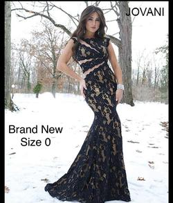 Jovani Black Size 0 A-line Dress on Queenly
