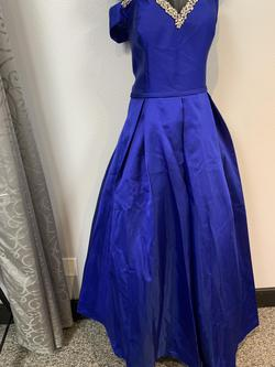Clarisse Blue Size 18 Plus Size Corset Ball gown on Queenly