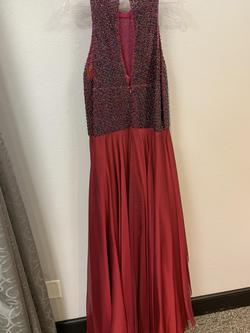 Sherri Hill Red Size 18 Plus Size Tulle A-line Dress on Queenly