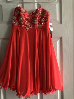 Orange Size 4 A-line Dress on Queenly