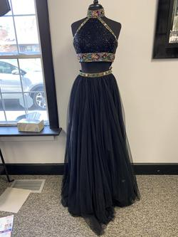 Sherri Hill Black Size 4 Two Piece A-line Dress on Queenly