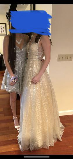 Mac Duggal Gold Size 2 Ball gown on Queenly