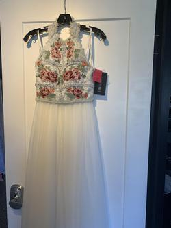 Sherri Hill White Size 00 Two Piece Side Slit A-line Dress on Queenly