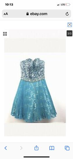 Sherri Hill Blue Size 2 A-line Dress on Queenly