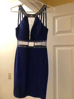 Say Yes to the Dress Blue Size 0 Cocktail Dress on Queenly