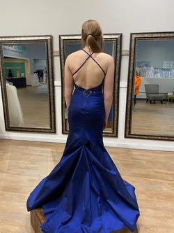 Mori Lee Blue Size 4 Mermaid Dress on Queenly