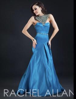 Rachel Allan Blue Size 2 Jewelled Sweetheart Mermaid Dress on Queenly