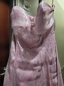 Style 8083 Joli Prom Pink Size 22 Plus Size Tall Height Prom A-line Dress on Queenly