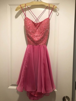 Sherri Hill Pink Size 6 A-line Cocktail Dress on Queenly