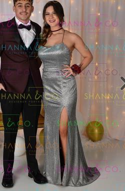 Silver Size 8 Side slit Dress on Queenly
