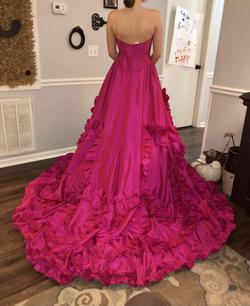 Style 51578 Sherri Hill Pink Size 4 Pageant Train Dress on Queenly