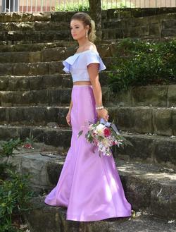 Ellie Wilde Multicolor Size 8 Lavender Light Purple Mermaid Dress on Queenly
