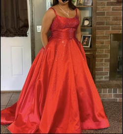 Red Size 16 Ball gown on Queenly