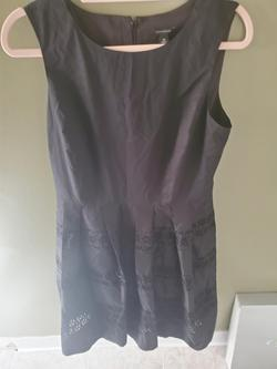 Ann Taylor Black Size 10 Wedding Guest A-line Dress on Queenly