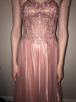 Pink Size 4 Train Dress on Queenly