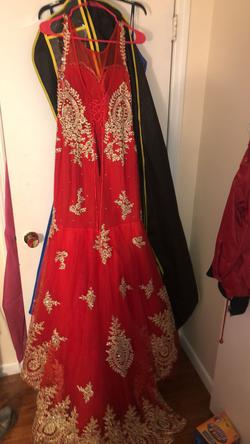 Red Size 8 Mermaid Dress on Queenly