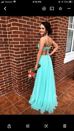 Sherri Hill Light Blue Size 2 A-line Dress on Queenly