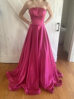 Jovani Pink Size 2 Pageant Strapless Ball gown on Queenly