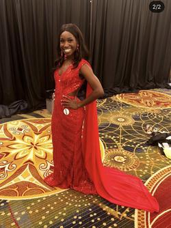 Sherri Hill Red Size 2 Train Straight Dress on Queenly