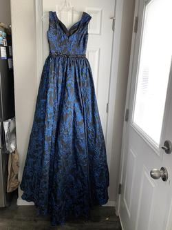 Mac Duggal Blue Size 4 Overskirt Pageant A-line Dress on Queenly