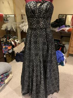 Nicole Miller Platinum Black Size 4 Ball gown on Queenly