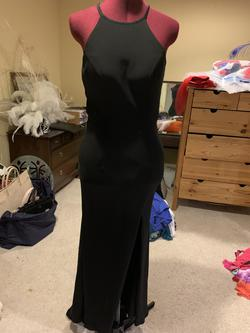 Sherri Hill Black Size 4 Straight Dress on Queenly