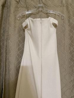 Jovani White Size 6 Wedding Mermaid Dress on Queenly