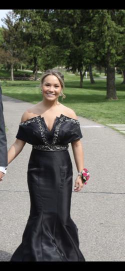 Rachel Allan Black Size 4 Prom Short Height Custom Mermaid Dress on Queenly