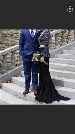 Rachel Allan Multicolor Size 4 Side slit Dress on Queenly