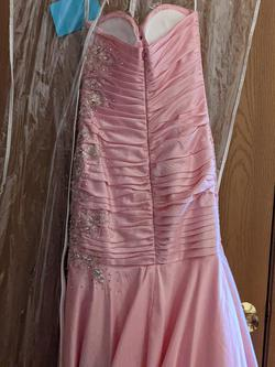 Tony Bowls Pink Size 2 Jewelled Strapless Mermaid Dress on Queenly