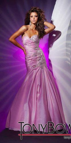 Tony Bowls Pink Size 2 Pageant Strapless Mermaid Dress on Queenly