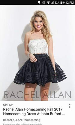 Style 140075 Rachel Allan Multicolor Size 2 Homecoming Graduation Cocktail Dress on Queenly