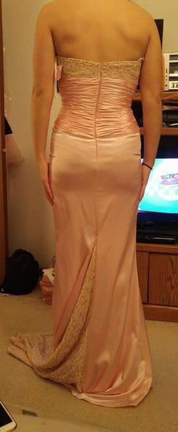 Alyce Designs Pink Size 2 Spaghetti Strap Silk Prom A-line Dress on Queenly