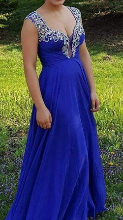 Rachel Allan Blue Size 2 Pageant A-line Dress on Queenly