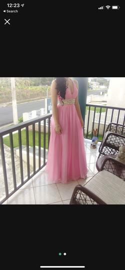 Mori Lee Pink Size 4 Train Dress on Queenly