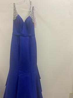 Ritzee Blue Size 4 Pageant Mermaid Dress on Queenly