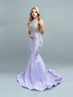 Purple Size 0 Mermaid Dress on Queenly
