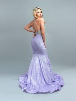 Purple Size 14 Mermaid Dress on Queenly