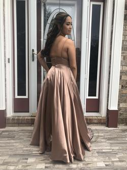 Sherri Hill Gold Size 8 Prom Ball gown on Queenly