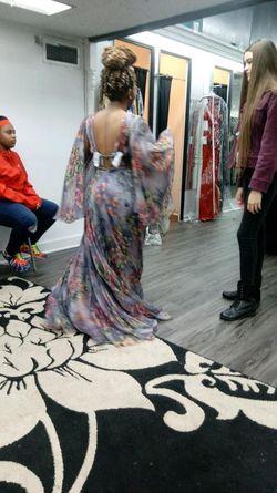 Jovani Multicolor Size 0 Prom Side slit Dress on Queenly